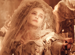 Helena Bonham Carter as Miss Havisham from Great Expectations