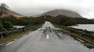 Rain-slicked Connemara roads