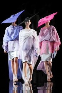 A trio of Pretty Women at Giorgio Armani