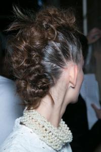 Simone Rocha S/S 14 catwalk hair