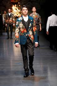 Dolce & Gabbana weren't afraid of adornment for men and neither was Edward