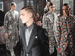 Alexander McQueen's patter and textiles for menswear suited Edward's tastes perfectly.