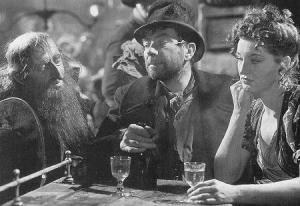 Noncy with Bill Sikes and Fagin in the 1948 version of Oliver Twist