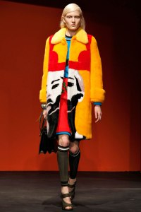 Prada Coat with face by artist