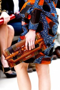 African textiles on a recent Burberry runway