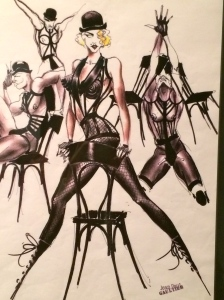Gaultier's drawings for Madonna