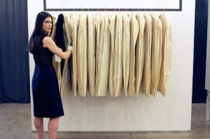Archivist Julia Orsini at work in designer Jason Wu's studio in NYC