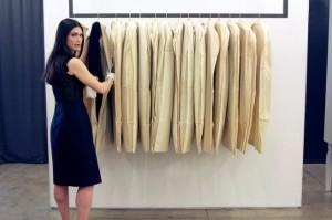 Archivist Julia Orsini at work in designer Jason Wu's studio in NYC