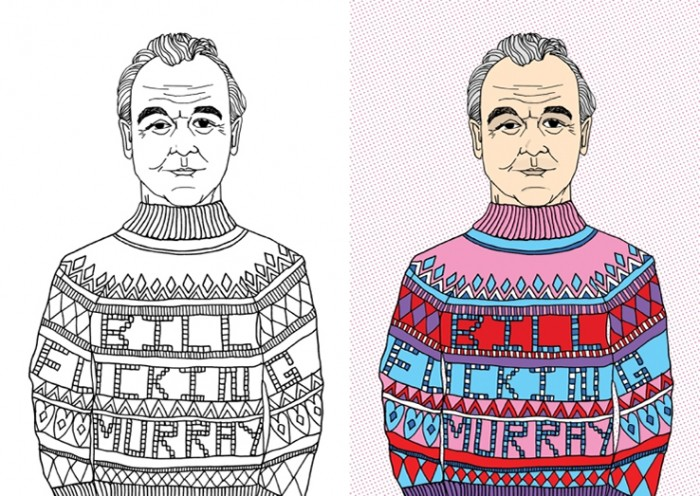 Bill Murray coloring book does not have  PG rating