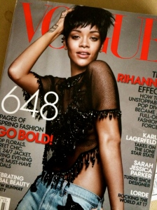 Rhianna in Vogue: One student at the back of the room said she looked like a white girl from where she was sitting.