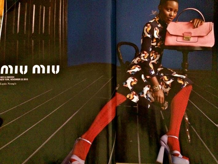 Lupita Nyong'o in Miu Miu ad campaign
