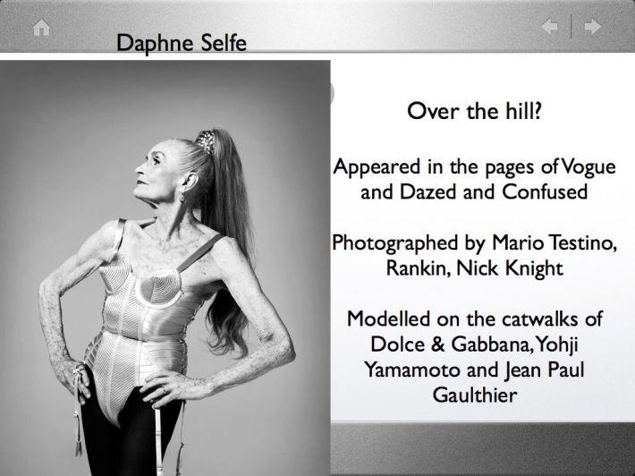 Model: Daphne Selfe