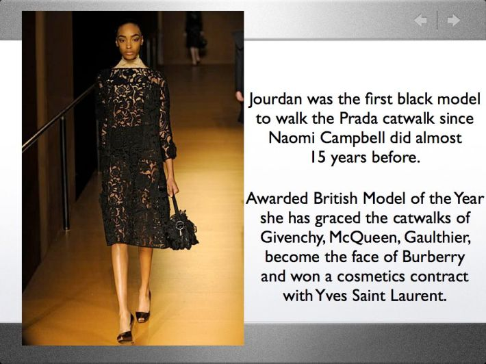 Jourdan Dunn for Prada
