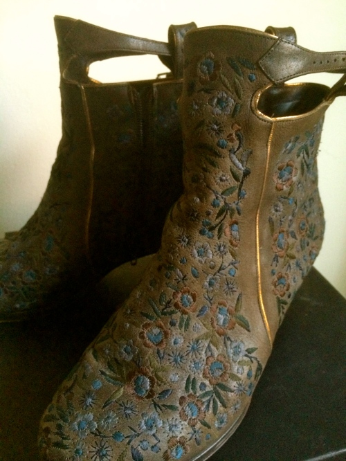 These Dries boots are made for walking--along a river bank in the drizzling rain holding a damp love letter