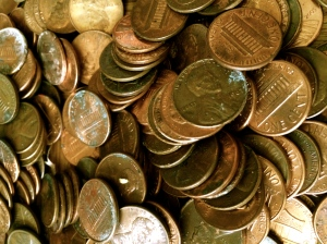 My pennies a-plenty