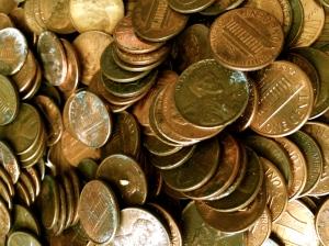 My pennies a-plenty