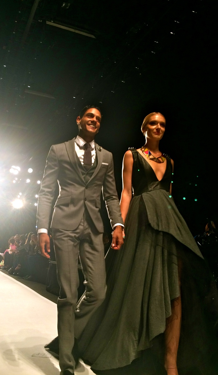 Angelo Rosa and his model
