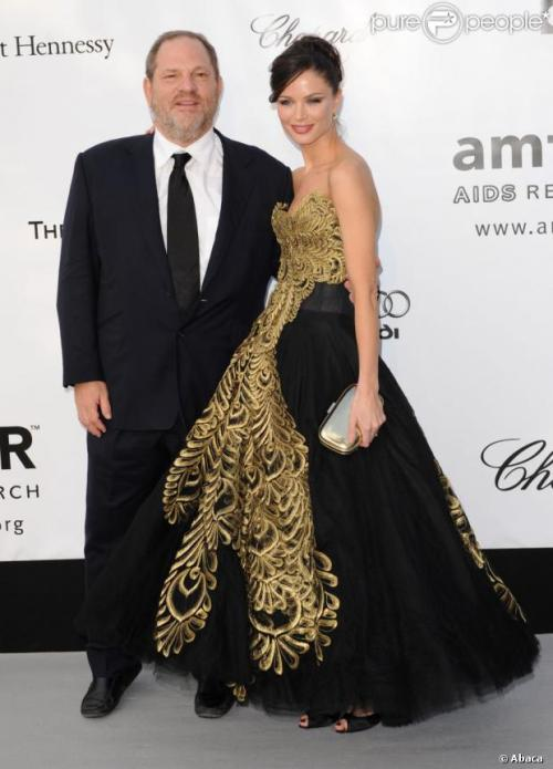 Harvey and his fashion designer wife, Georgina Chapman