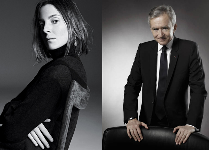 Phoebe Philo of Celine and Bernard Arnault of LVMH
